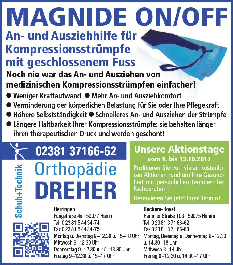 Orthopädie Dreher Schuh+Technik – MAGNIDE ON/OFF