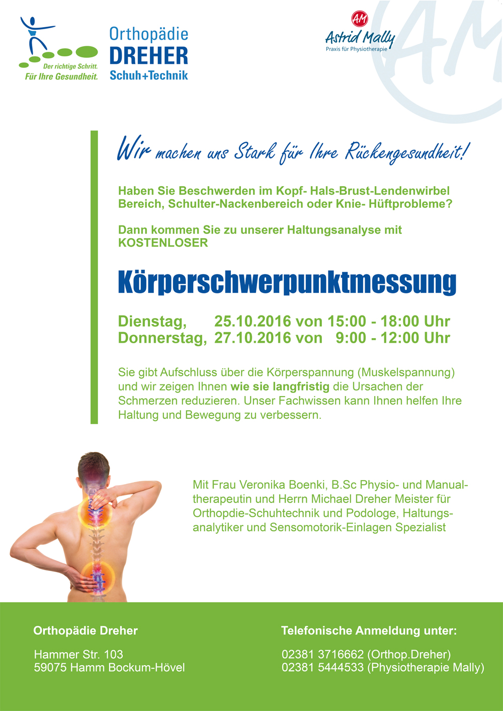 Orthopädie Dreher Schuh+Technik – Aktionen im Oktober und November 2016
