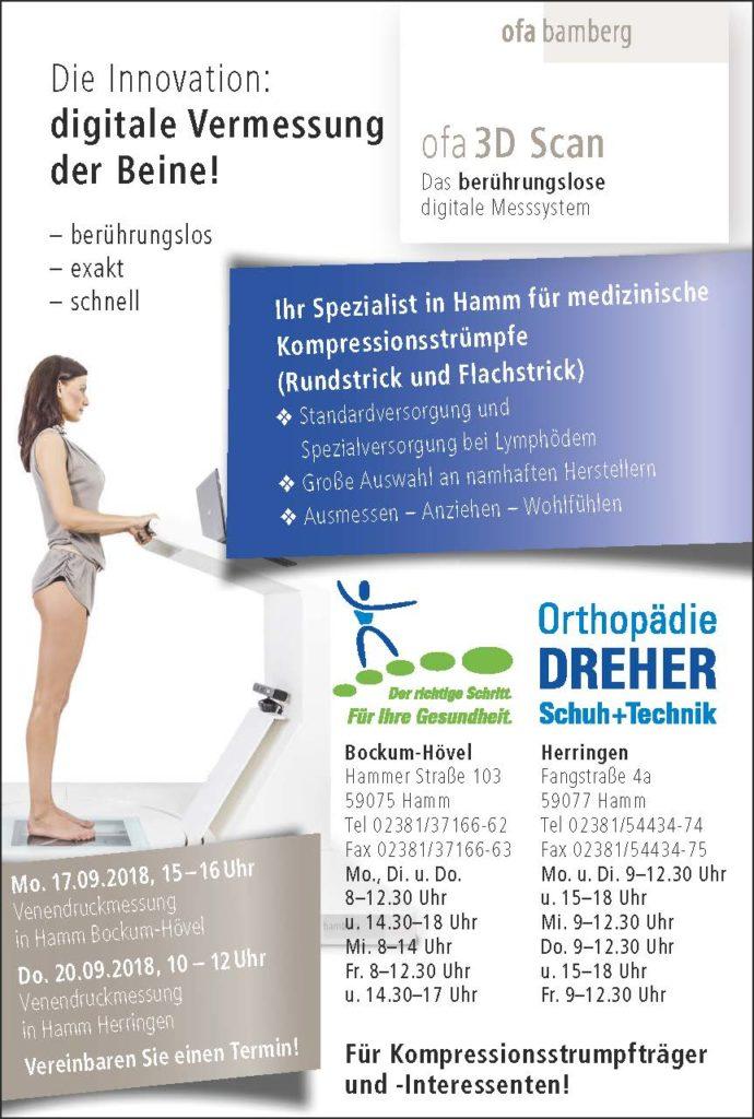 Kompressionsstrümpfe bei Orthopädie Dreher in Hamm