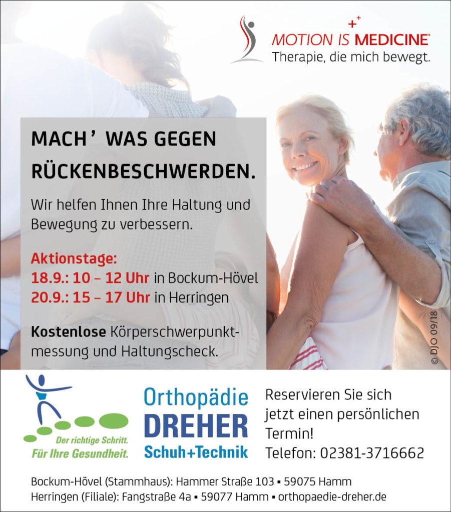 Rückenschmerzen Vorbeugung bei Orthopädie Dreher in Hamm